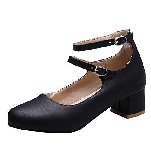 Carolbar Donna Dolce Lolita Cosplay Fibbia Cinturino Alla Caviglia Mary Janes Scarpe Nere