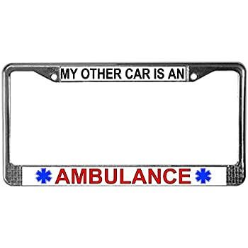 EMS FIRST RESPONSE MOTORCYCLE License Plate Frame Tag Holder