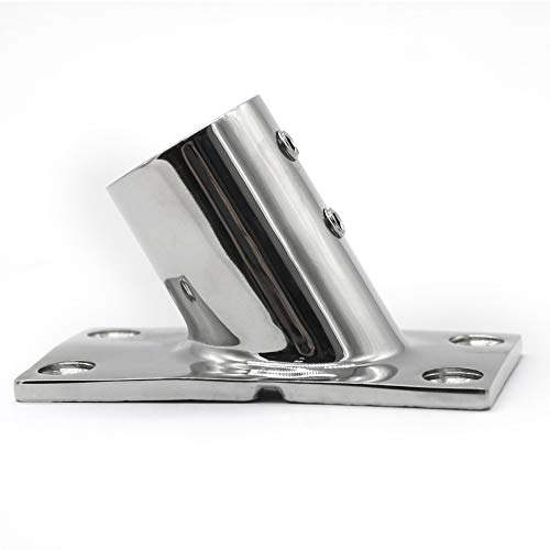 NRC&XRC Boat Hand Rail Fitting-60 Degree 1 inch Rectangular Base-Marine 316 Stainless Steel usd by Boats/Awning