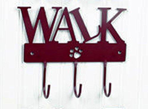 DEI Pawprint Leash or Coat Hook, Choice of Style (Walk) Red