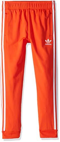 adidas Originals Boys' Big Superstar Pants, Active Orange/White - Adidas Kids Retro