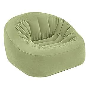 Intex 68576NP - Sillón hinchable Beanless Bag Club en color verde 124 x 119 x 76 cm