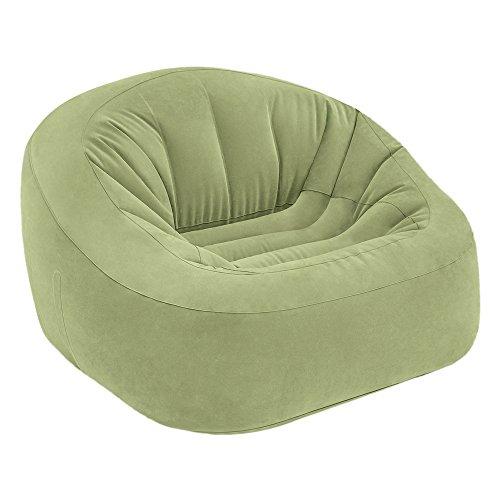 Intex Inflatable Chair Beanless Bag Club in Green, 124x 119x 76cm (68576) ()