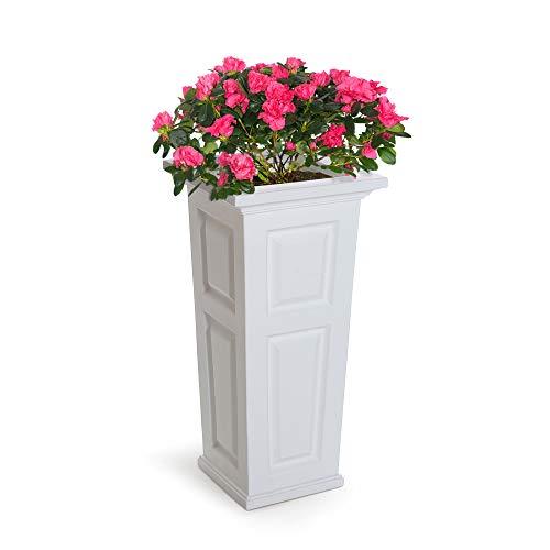 (Mayne 4833-W Nantucket Polyethylene Planter, White)