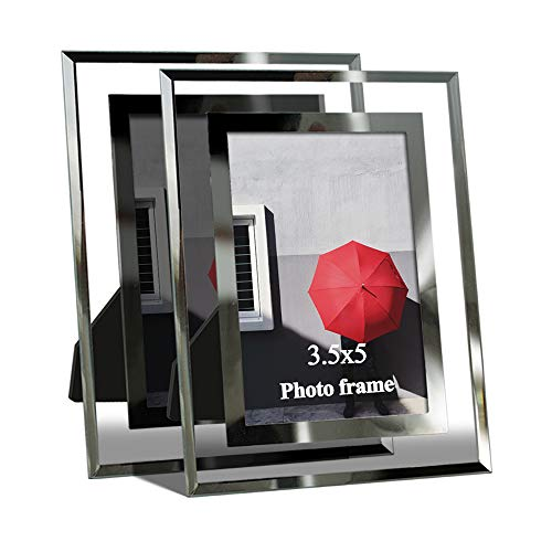 Giftgarden 3.5 x 5 Picture Frames for Photo 3.5x5, Glass Frame, 2 - Crystal Photo Inch 5