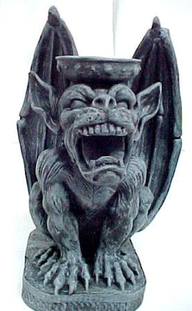 Awesome Angry Gargoyle Statue Candle Holder Evil