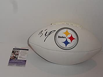 7f68254fa Autographed Ben Roethlisberger Signed Pittsburgh Steelers Logo Football -  JSA Certified