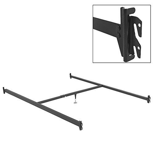 Leggett & Platt 81-Inch Bed Frame Side Rails 81-1H with Hook-On Brackets and Adjustable Center Support for Headboards and Footboards, Full XL - Queen - Leggett Platt Bed Rails