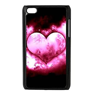 J-LV-F Phone Case Love Pink,Customized Case For Ipod Touch 4