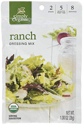 Simply Organic Organic Salad Dressing - Simply Organic Ranch Dressing Mix (Pack of 3)
