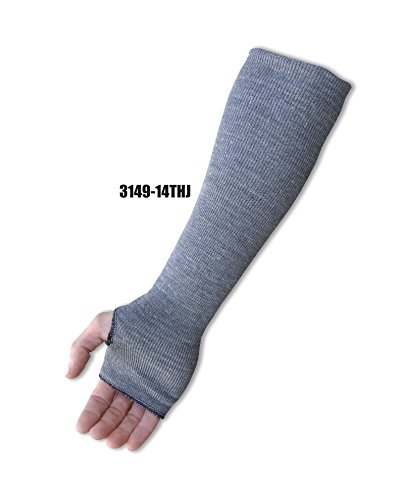 (24 Each) Majestic 4 IN X 14 IN HEAVY WEIGHT 2 PLY DYNEEMA SLEEVE WITH THUMB HOLE - 4 IN X 14 IN(3149-14THJ) by Majestic Athletic (Image #1)