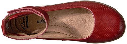 CLARKS Mujeres Zapato de Piso, , Talla Red Leather