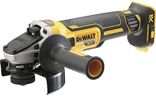 DEWALT DCG405NT-XJ - Mini-Amoladora sin escobillas XR 18V 125mm sin cargador/batería con Freno, Embrague, Arranque Suave, Bloqueo y re-arranque y ...