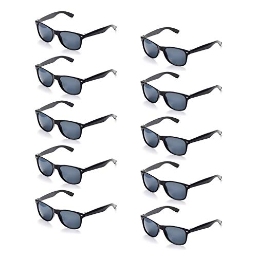 100% UV Protection Wholesale Multi PACK Unisex 80'S Retro Style Promotional Sunglasses ()