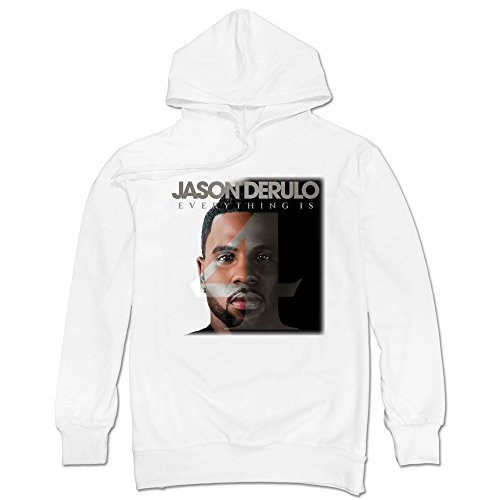 SAVIS Men Jason Derulo Everything Is 4 Want To Want Me Hoodie White 100% - Snapback Jason Derulo
