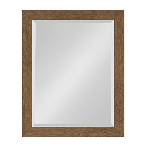 Kate and Laurel Scoop Framed Beveled Wall Mirror, 22x28, Midtone - Discount Bathroom Mirrors
