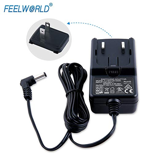 Feelworld Power Adapter for Feelworld Camera Monitor F450 FW450 F550 F570 FW759 FW760 FH7 T7 T756 12V/1.5A -Official Standards