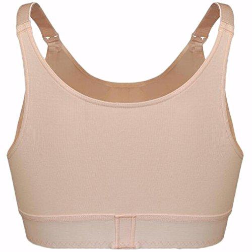 Bras ropa interior de señora yardas grandes tazas completas parte delantera de la deducción de sección delgada mujeres embarazadas materna brazo de lactancia materna 2 piezas pink skin