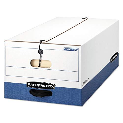 Bankers Box 00012 Liberty Heavy-Duty Strength Storage Box, Legal, 15 X 24 X 10, White/blue, -