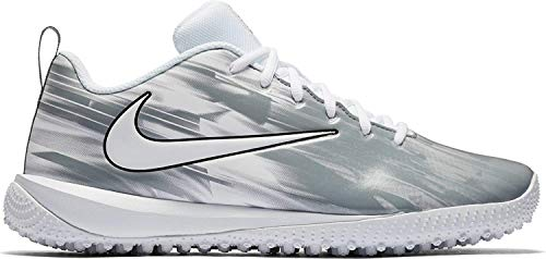 Nike Vapor Varsity Low Turf LAX Mens Size 8 White/White-Cool Grey (Womens 9.5)