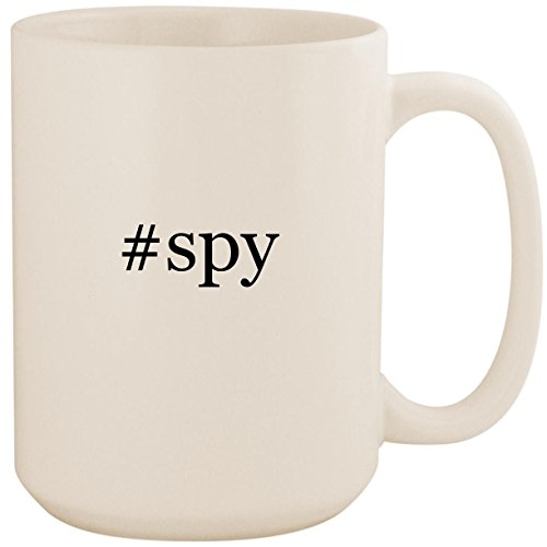 #spy - White Hashtag 15oz Ceramic Coffee Mug Cup