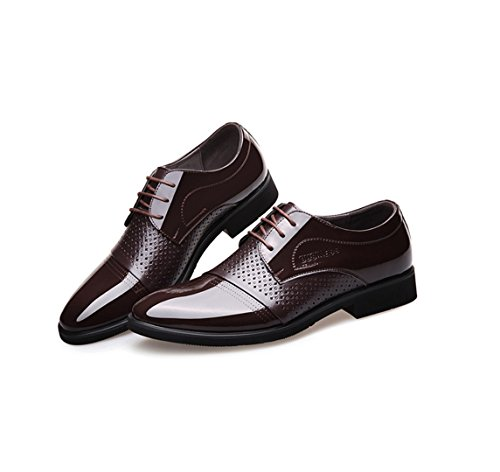 basse brown in in uomo WSK pizzo scarpe da scarpe pelle scarpe Frusta traspirante Derby da d'affari uomo aO6wqarg