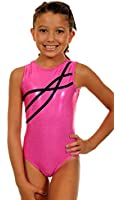 TumbleWear Big Girl's Sofia Gun Metal Grey Leotard
