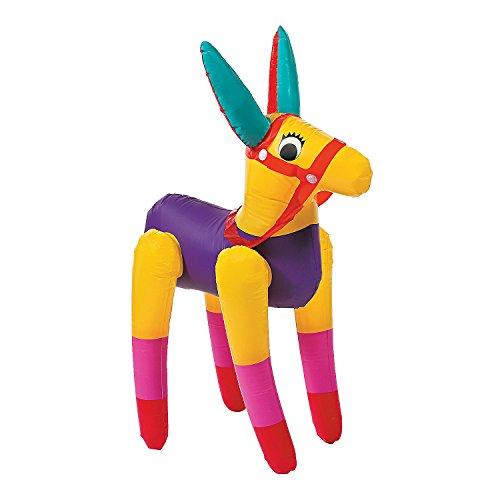 Fun Express - Jumbo Inflate Donkey for Cinco de Mayo - Toys - Inflates - Inflatable Characters - Cinco de Mayo - 1 -