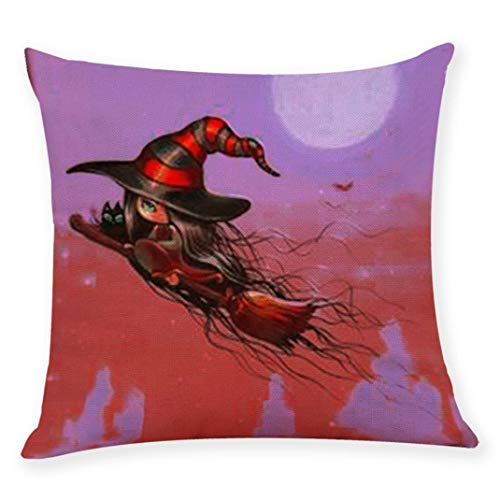 YOcheerful Halloween Witch Throw Pillow Pillow Cover Home