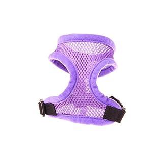 Dog Harness Pet Vest Rope JOYFEEL Adjustable Comfort Soft Breathable Dog Chest Strap Puppy Clothes T Shirt (L, Purple)