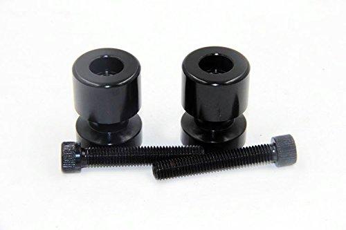 HTT Black Flat Swingarm Spools No logo 8mm Thread For Suzuki GSXR 750 1992-2011/ GSXR 1000 2001-2012/ GSXR 1100 1992-1998/ GSXR 600 1992-2012/ TL1000R 1998-2003