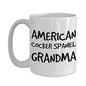 American Cocker Spaniel Grandma Mug - White 11oz Ceramic Tea Coffee Cup - Perfect For Travel And Gifts 31
