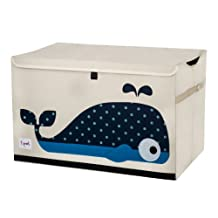 3 Sprouts Toy Chest, Whale, Blue