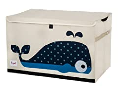 The 3 Sprouts toy chest is the perfect organizational tool for any room. With sides reinforced by cardboard, our toy chest stands at attention even when empty and the lid keeps all toys out of sight. Large enough to hold whatever you t...