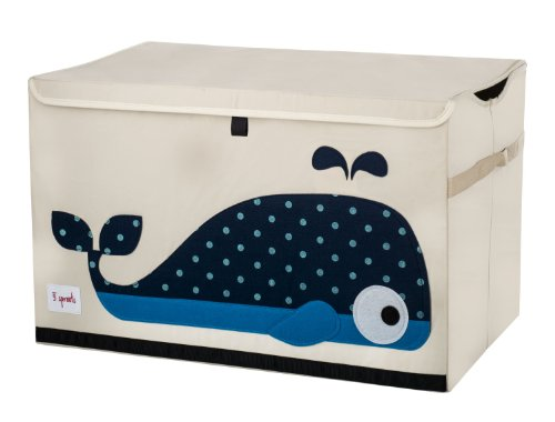 3 Sprouts Toy Chest Whale product image