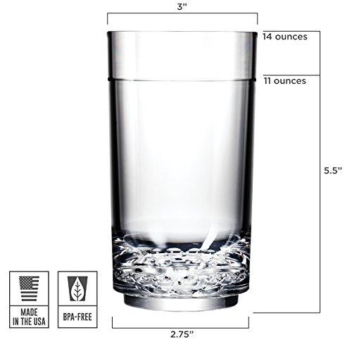 Drinique ELT-TA-CLR-24 Elite Tall Unbreakable Tritan Highball Glasses, 14 oz (Case of 24), Clear by Drinique (Image #5)