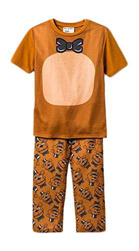 Five Nights at Freddys Costume Boys Girls 5 Nights Pajama Set-Freddy Shirt and Pants (S)