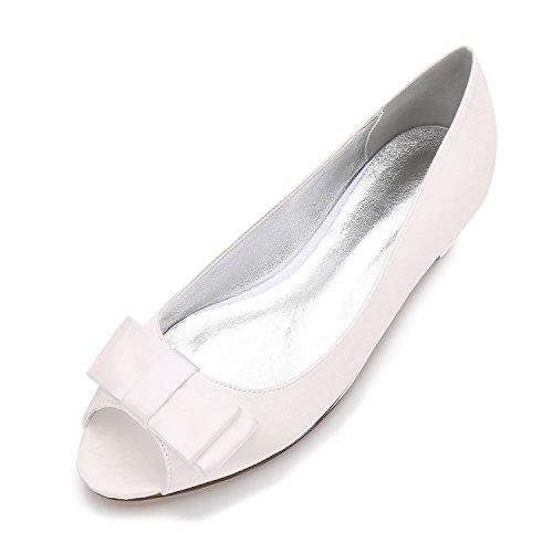 scarpe bianco di pesce Donna Qingchunhuangtang Scarpe Scarpe uffici scarpe grandi stile Fondo di grandi M nozze piatto singole banchetto Bocca party cantieri twwq1zI