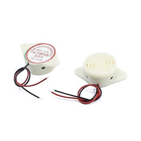 Amazon.com: 2 pezzi DC 3-24V SFM-27 continuo Beep Piezo attivo Buzzer elettronico: Automotive