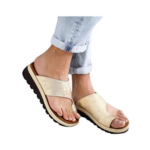 Dressin Women's Sandals 2019 New Women Comfy Platform Sandal Shoes Summer Beach Travel Shoes Fashion Sandal Ladies Shoes Gold