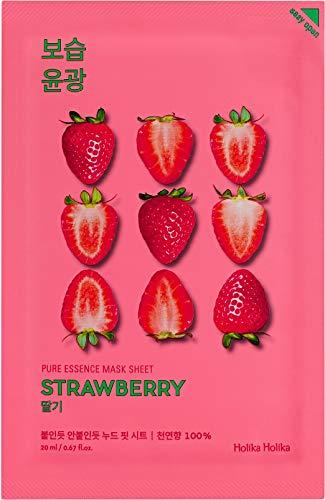 Holika Holika Pure Essence Mask Sheet Gesichtsmaske Strawberry Erdbeer 1pc