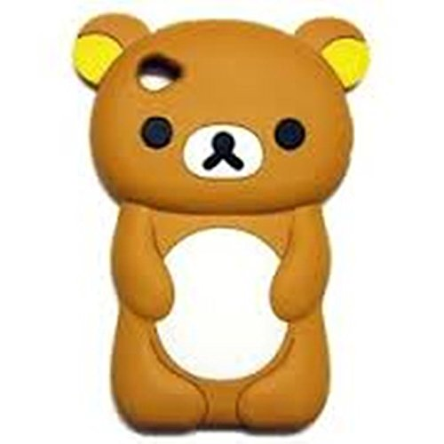 Phaetonnice 3D Cute Bear Silicone Skin Case Cover for Apple iPod Nano 7th Generation 7G - Brown