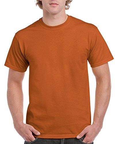 Texas Orange T-shirt - Gildan Men's Ultra Cotton Tee, Texas Orange, X-Large