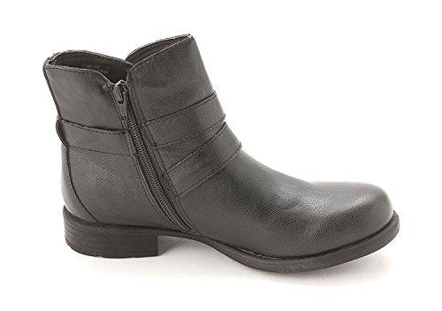 B.O.C JOYNER, Fashion Stiefel Frauen, Runder Zeh Black