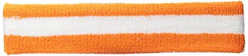 Terry Stripe Headband-Orange White (Jackie Moon From Semi Pro)
