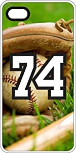 iphone covers Baseball Sports Fan Player Number 74 White Rubber Decorative Iphone 5 5s Case