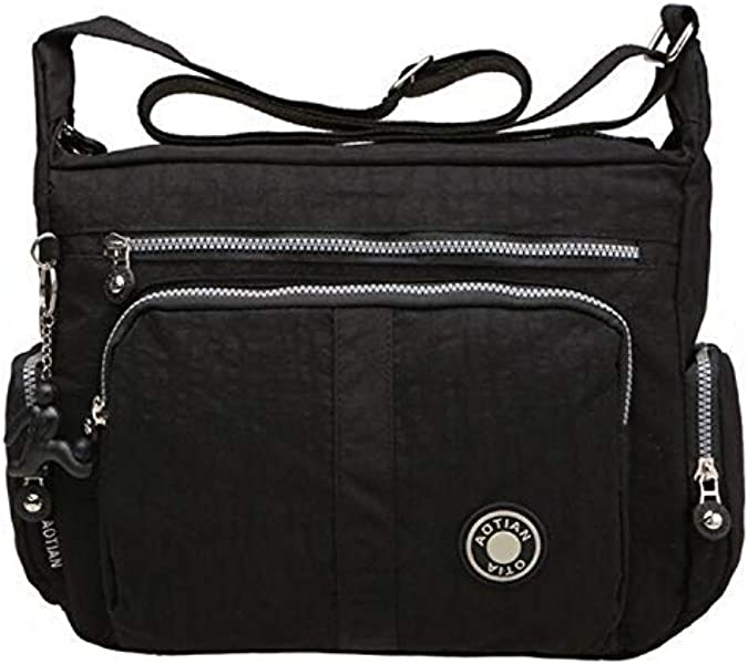 dbd8706920 Bagtopia Large Capacity Casual Crossbody Bag Waterproof Nylon Shoulder  messenger Bags Purse for women (A