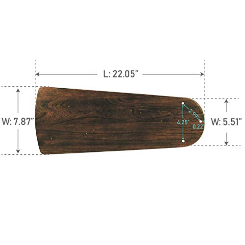 Craftmade B554PD-WAL Type 1 Blades, 54'' by Craftmade (Image #1)