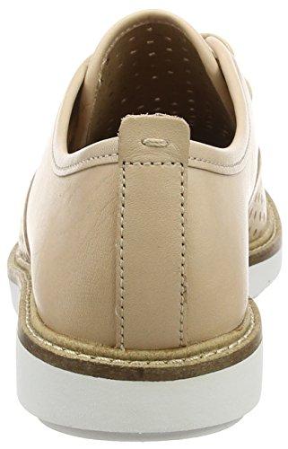 Clarks Glick Resseta - Zapatos de cordones derby Mujer Beige (Nude Leather)
