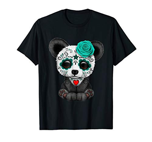 Panda Sugar Skull Trick Or Treat Pumpkin Halloween T-Shirt]()